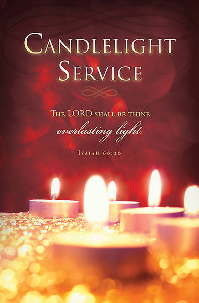 Picture of Candlelight Service Christmas Bulletin Isaiah 60:20  (Pkg of 100)