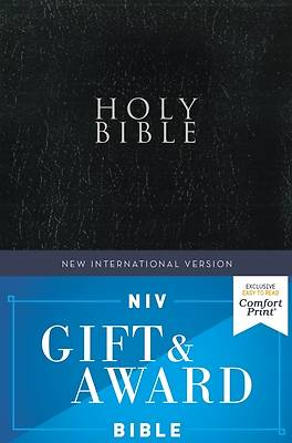 Picture of NIV Gift and Award Bible, Leather-Look, Black, Red Letter Edition, Comfort Print