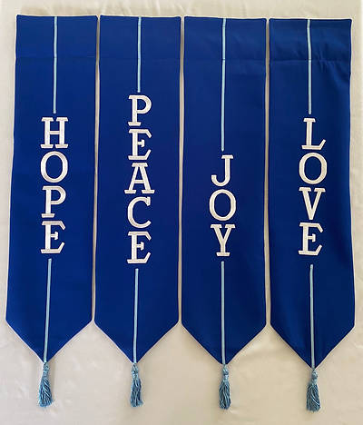 Picture of Advent Wreath Banners - Blue and White
