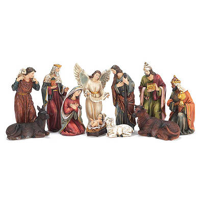 "7"" Traditional 11pc Nativity"