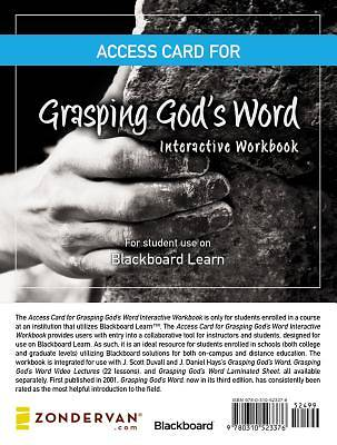 Access Card for Grasping Gods Word Interactive Workbook