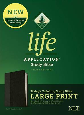 NLT Life Application Study Bible, Third Edition, Large Print (Leatherlike, Black/Onyx)