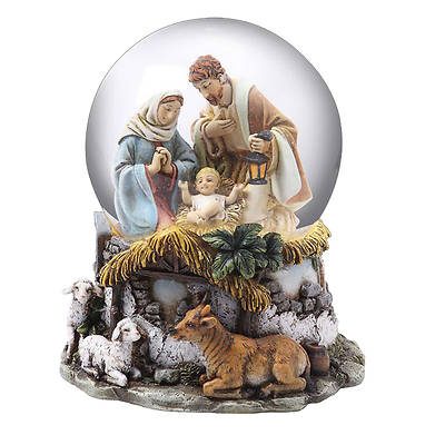Picture of Holy Family Musical Snow Globe 5.5""