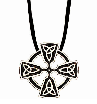 Picture of Celtic Trinity Circle of Life Cross Pendant - 18""