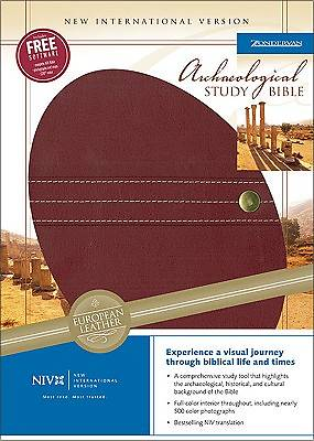 Archaeological Study Bible Scarlet European Leather