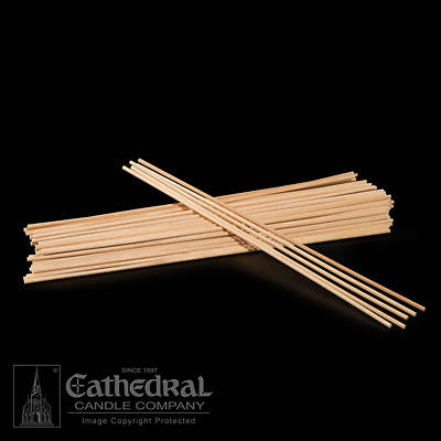Picture of Cathedral Thick Wood Lighting Tapers