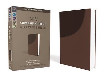 Picture of NIV, Super Giant Print Reference Bible, Imitation Leather, Brown, Red Letter Edition