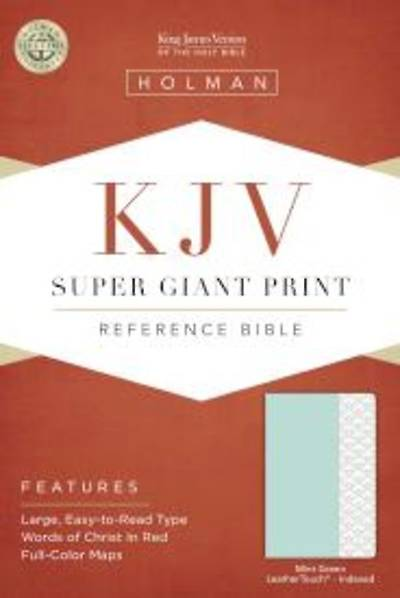 KJV Super Giant Print Reference Bible, Mint Green Leathertouch, Indexed