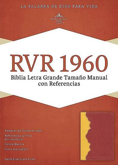 Picture of Rvr 1960 Biblia Letra Grande Tamano Manual Con Referencias, Ambar/Rojo Ladrillo Simil Piel