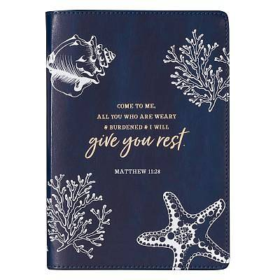 Picture of Journals Slimline Lux-Leather Flexcover Give You Rest Blue