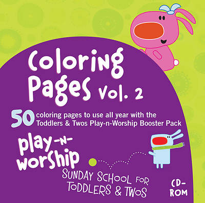 Play-n-Worship Coloring Pages Toddlers & Twos Volume 2 CD-ROM