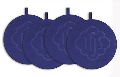 Mats Offering Plate Blue (Set of 4)