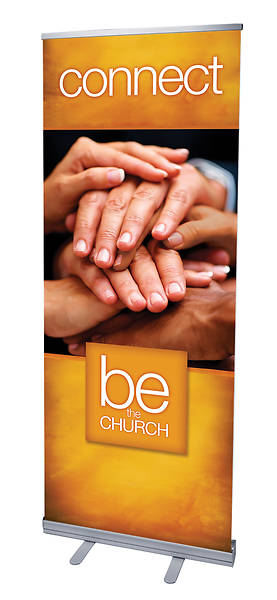 Be the Church Connect RollUp Banner with Stand