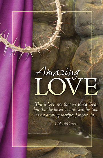 Amazing Love Good Friday Bulletin, Regular (Package of 100)