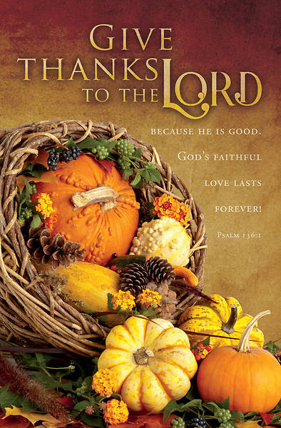 Picture of Give Thanks to The Lord Psalm 136:1 Bulletin Regular