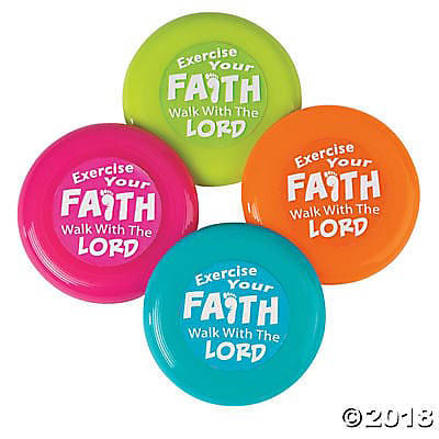 Picture of Plastic Exercise Your Faith Mini Flying Disc