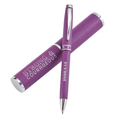 Picture of Pens Pen and Case Gift Set Strong and Courageous