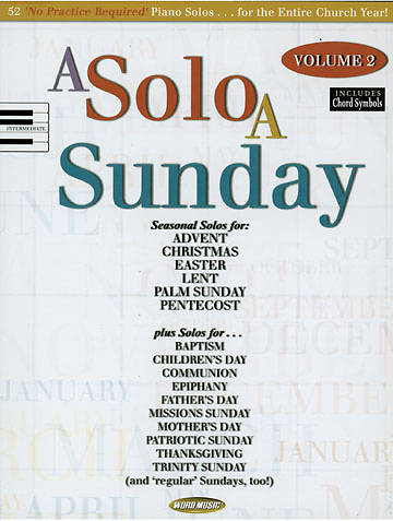 A Solo A Sunday Volume 2
