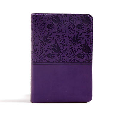 CSB Large Print Compact Reference Bible, Purple Leathertouch, Indexed