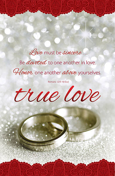 True Love Wedding Bulletin Regular (Package of 100)