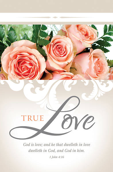 True Love Wedding Regular Size Bulletin