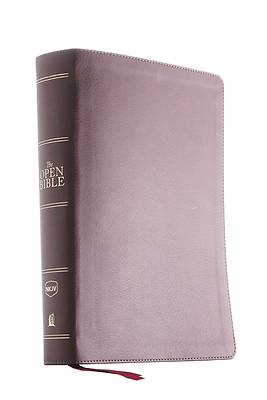 The NKJV, Open Bible, Imitation Leather, Brown, Red Letter Edition, Comfort Print