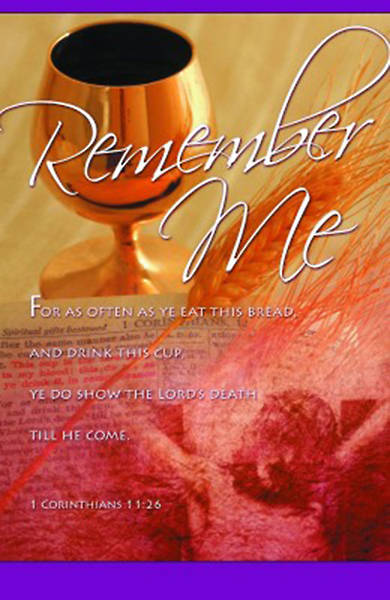 Remember Me Communion Bulletin, Regular Size, Package of 100