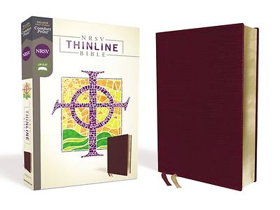 NRSV Thinline Bible, Bonded Leather, Burgundy, Comfort Print