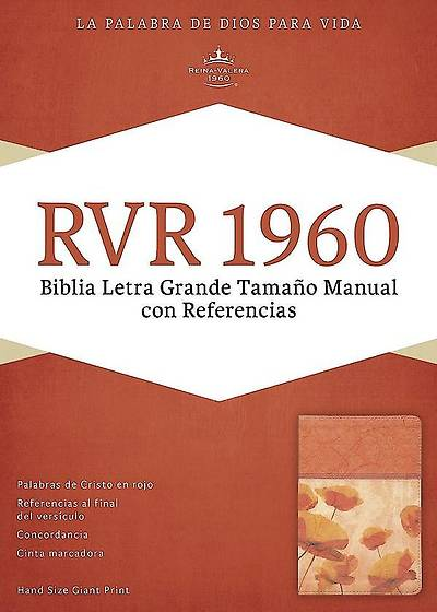 Picture of Rvr 1960 Biblia Letra Grande Tamano Manual Con Referencias, Damasco/Coral Simil Piel