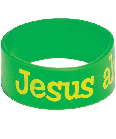 Group VBS 2013 Weekend HayDay Jesus Always Loves Us Wristbands (pkg 10)