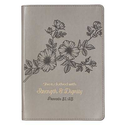 Picture of Journals Slimline Lux-Leather Flexcover Strength & Dignity Mauve