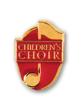 Choir Pin Child Gold Red