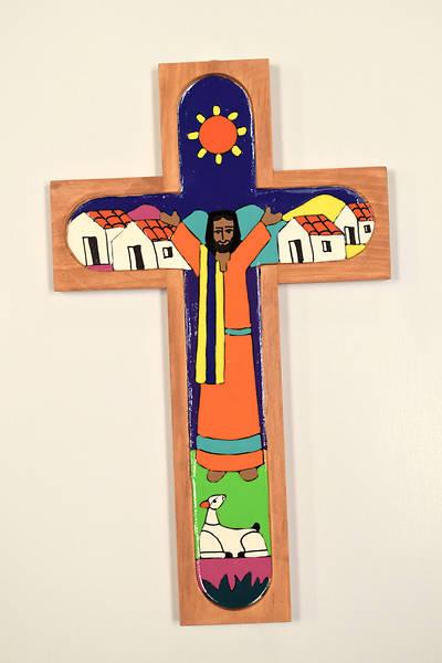 "Picture of Resurrection Cross 12"" - El Salvador"