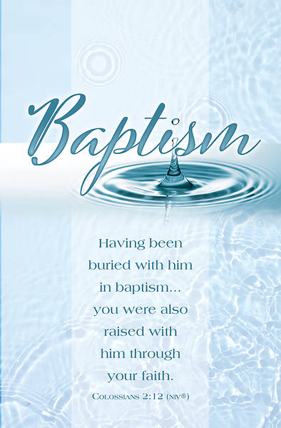 Picture of Buried With Him Baptism Regular Size Bulletin