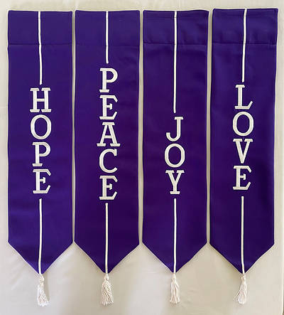 Picture of Advent Wreath Banners - Purple and White