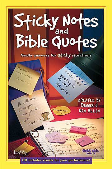 Sticky Notes and Bible Quotes Choral Book