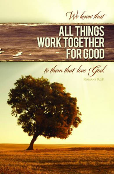 "Picture of ""All Things Work Together for Good"" Bulletin"