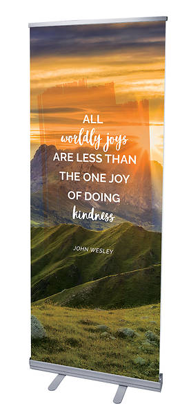 All Worldly Joys Nature Scene Words of Wesley Rollup Banner