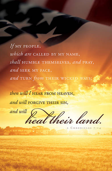 Heal Their Land Patriotic Regular Size Bulletin