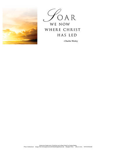 Soar Sunrise Easter Letterhead (Pkg of 50)