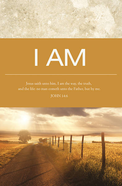 I Am The Way John 14:6, KJV Regular Size Bulletin