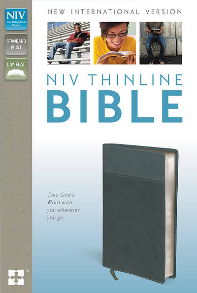NIV Thinline Bible Italian Duo-Tone Gray