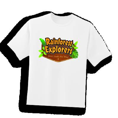 Picture of Vacation Bible School (VBS 2020) Rainforest Explorers T-Shirt Iron-Ons Pkg of 10