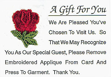 Visitor Card A Gift for You Red Rose (box of 25)