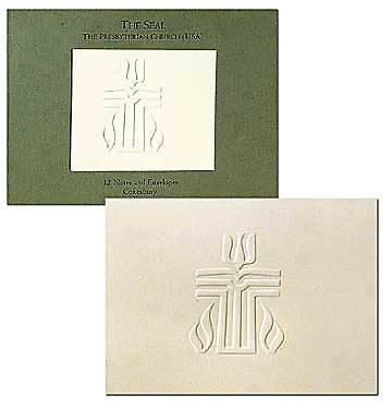 Stationery Presbyterian Seal Embossed Notecard (package of 12)