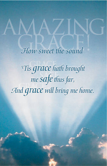 Amazing Grace Funeral Bulletin Pkg of 100