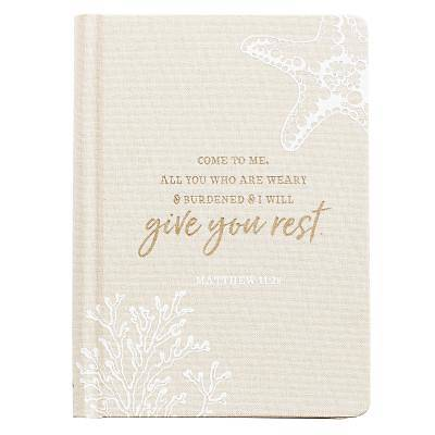 Picture of Journals Hardcover Linen Give You Rest Tan