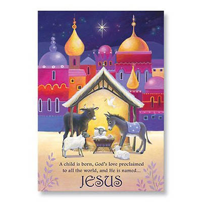 Animals and Manger Boxed Christmas Cards