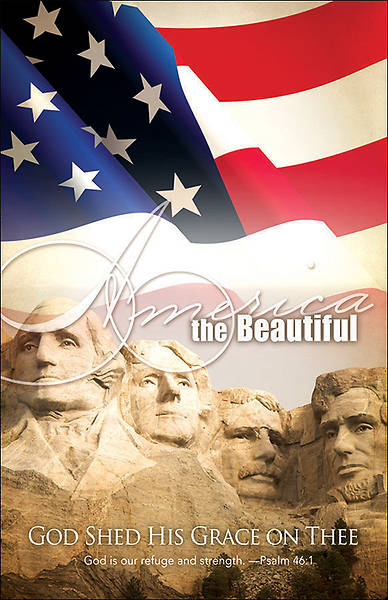 America the Beautiful Patriotic Bulletin