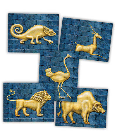Vacation Bible School (VBS) 2018 Babylon God Sightings Animal Tiles - Pkg of 30